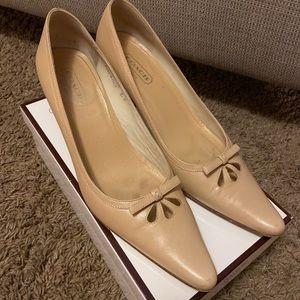 Coach nude kitten heels
